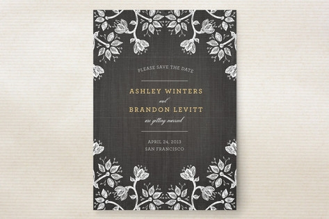 Hand-Drawn Flowers Save the Date Cards by Wendy Va...