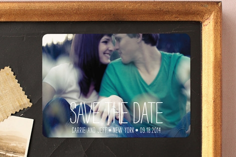 Happiest Homestyle Save the Date Magnets by Max an...