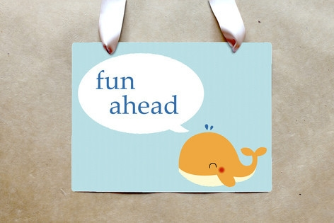 Havin' A Whale Of A Time Party Greeting Signs by S...