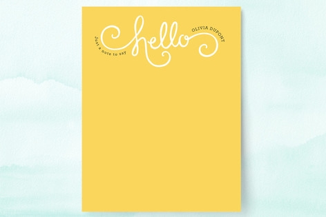 Here Comes Sunshine Personalized Stationery by Jen...