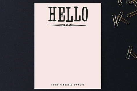Holla Hello Personalized Stationery by trbdesign