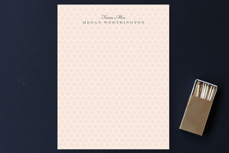Honeycomb Notes Personalized Stationery by Sarah C...
