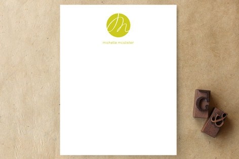 Initial Here Personalized Stationery by roxy