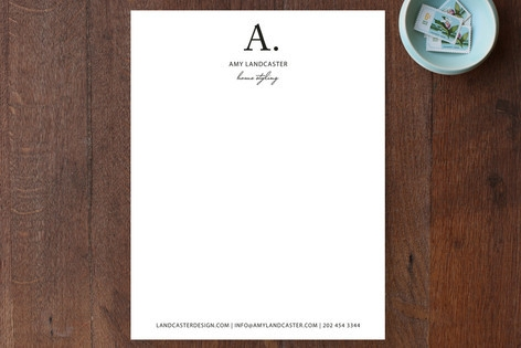 Initial then Period Business Stationery Cards