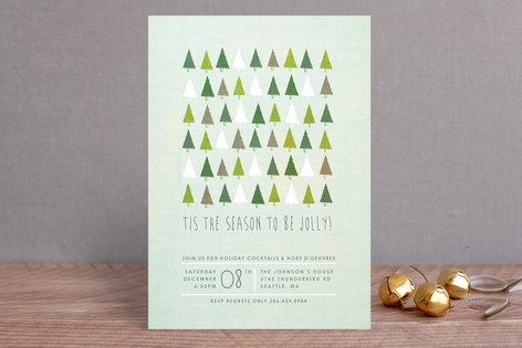 Jolly Trees Holiday Party Invitations