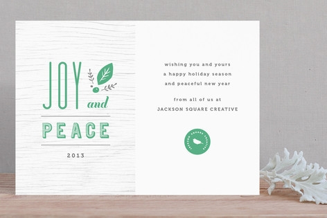 Joy and Peace Business Holiday Cards