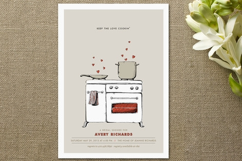 Keep the Love Cookin' Bridal Shower Invitations...