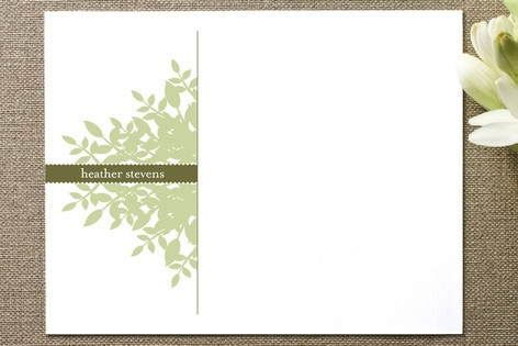 Leafy Personalized Stationery by stacey day