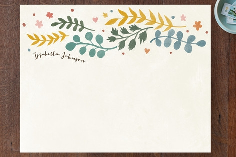 Leaves of Autumn Personalized Stationery by Four W...