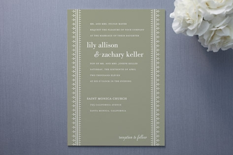 Leyton Wedding Invitations by Dauphine Press