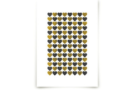 Lots of Hearts Art Prints