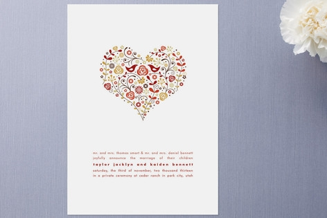 Love Birds Wedding Announcements by Jana Volfova