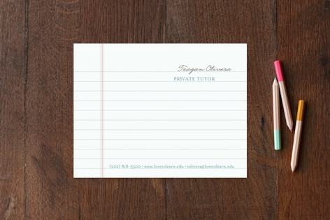 Love to Learn Business Stationery Cards