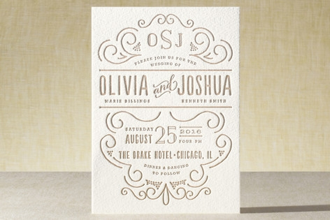 Luxe Impression Letterpress Wedding Invitations