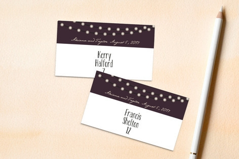 Midnight Vineyard Place Cards