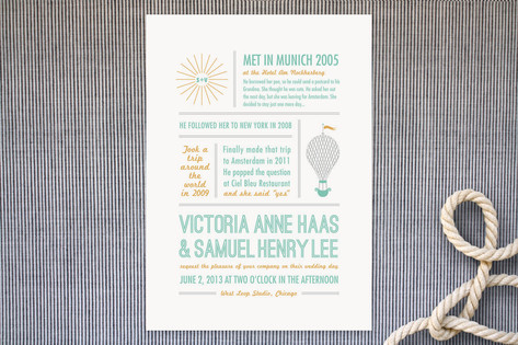 Time Flies Wedding Invitations by Wondercloud Desi...