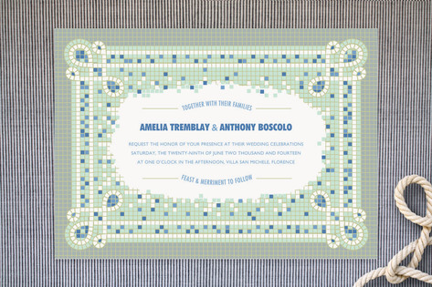 Mosaic Wedding Invitations by Betta