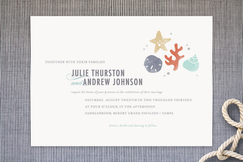 The Shore Wedding Invitations by Kristen Smith