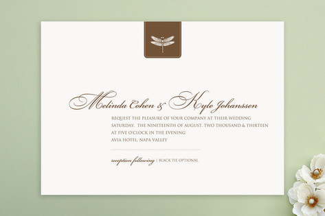 Classic Dragonfly Emblem Wedding Invitations by bu...