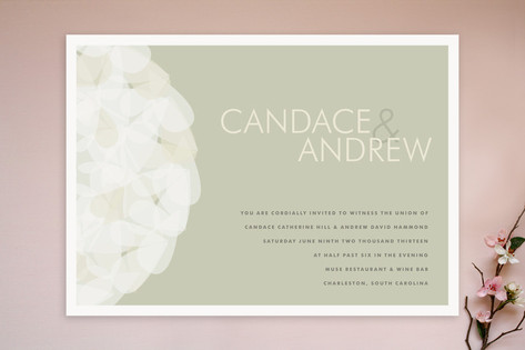 Modern Tulle Wedding Invitations by Kristie Kern