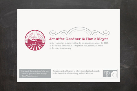 Iconic Barnyard Wedding Invitations by bumble ink