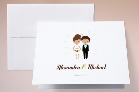 Cake Toppers Thank You Cards by Zory Mory