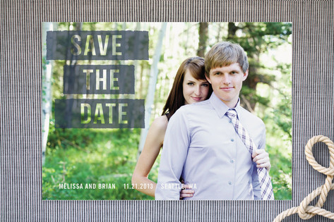Ink Roll Save the Date Cards by Phoebe Wong-Oliver...