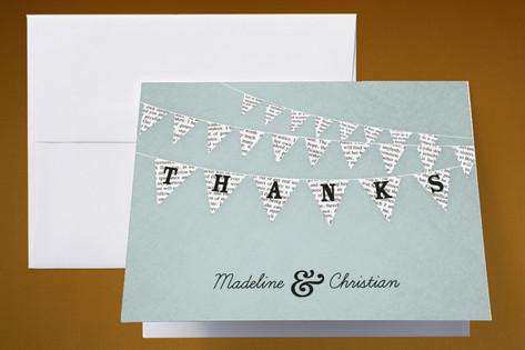 Love Story Thank You Cards by cadence paige design