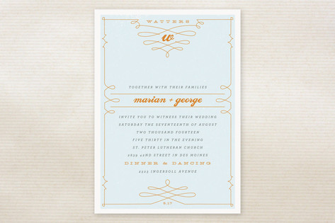 Mr. Watters Wedding Invitations by Moglea