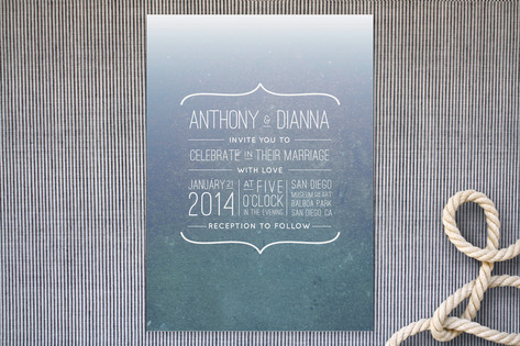 Dive In Wedding Invitations by Lauren Brenton