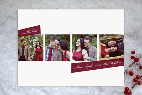 Photobooth Style Save the Date Cards by Roxy