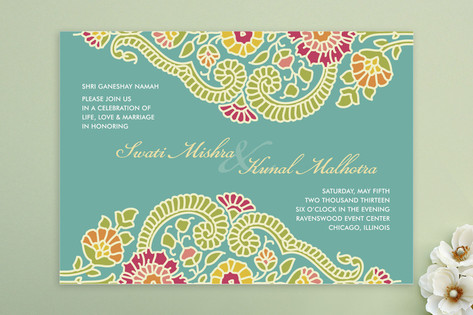 Modern Maharani Wedding Invitations by Kelly Maron...
