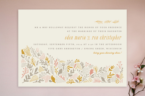The Grainfield Wedding Invitations by Moglea