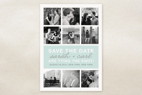Photo Gallery Save the Date Cards by The Social Ty...