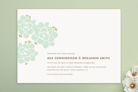 Sunday Succulent Wedding Invitations by Carolyn Ma...
