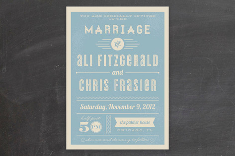 Vintage Retro Type Wedding Invitations by lehan pa...