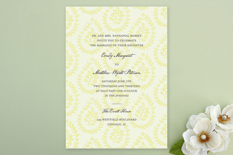 Print Block Wedding Invitations by Laura Hankins