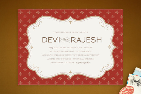 Indian Flair Wedding Invitations by Kristen Smith