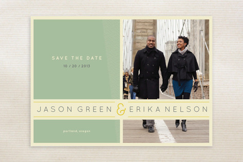 Subtle Chevron Save the Date Cards by Shasta Knigh...