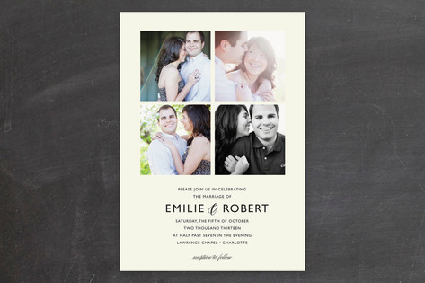 Moments Captured Wedding Invitations by Carrie Eck...