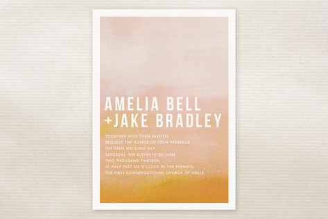 Ombre Wedding Invitations by Linda and Harriett