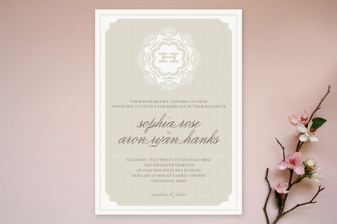 Grand Lace Wedding Invitations by Carrie ONeal