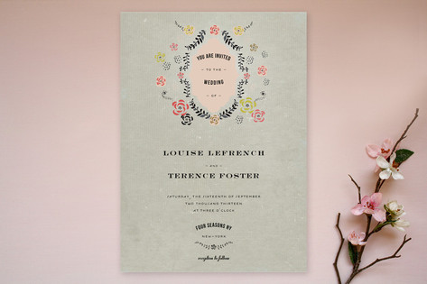 Vintage Romance Wedding Invitations by Cecile Pape...