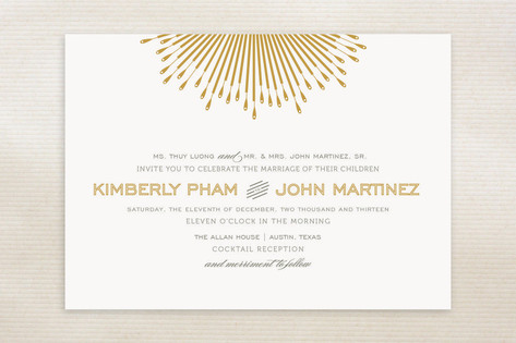 Glam Burst Wedding Invitations by Cheer Up Cherup