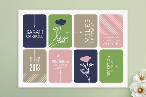 Modern Blocks Wedding Invitations by Cheer Up Cher...