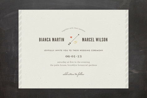 Newsprint Wedding Invitations by nocciola design