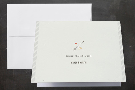 Newsprint Thank You Cards by nocciola design