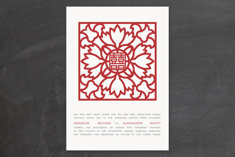 Double Happiness Screen Wedding Invitations by Pho...