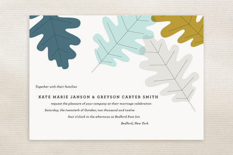 Autumn Oak Wedding Invitations by Oscar & Emma