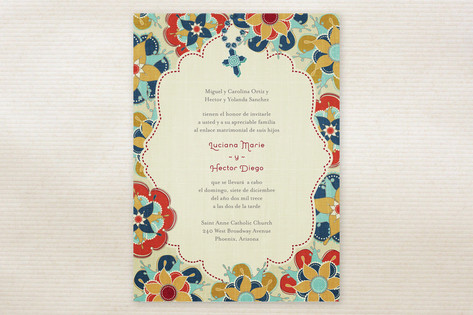 Las Flores Bonitas Wedding Invitations by Wendy Va...